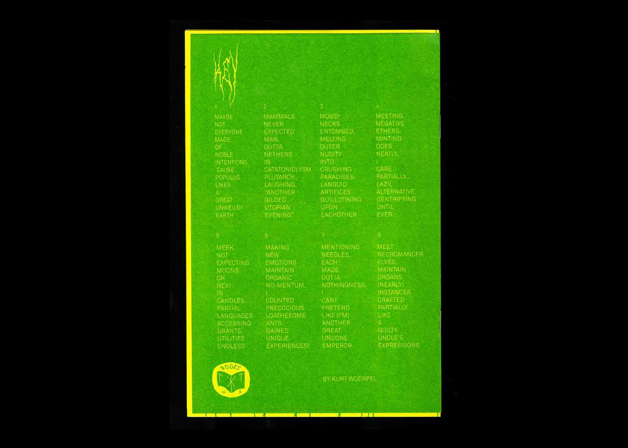 TXTbooks Mnemonic Plague – Kurt Woerpel