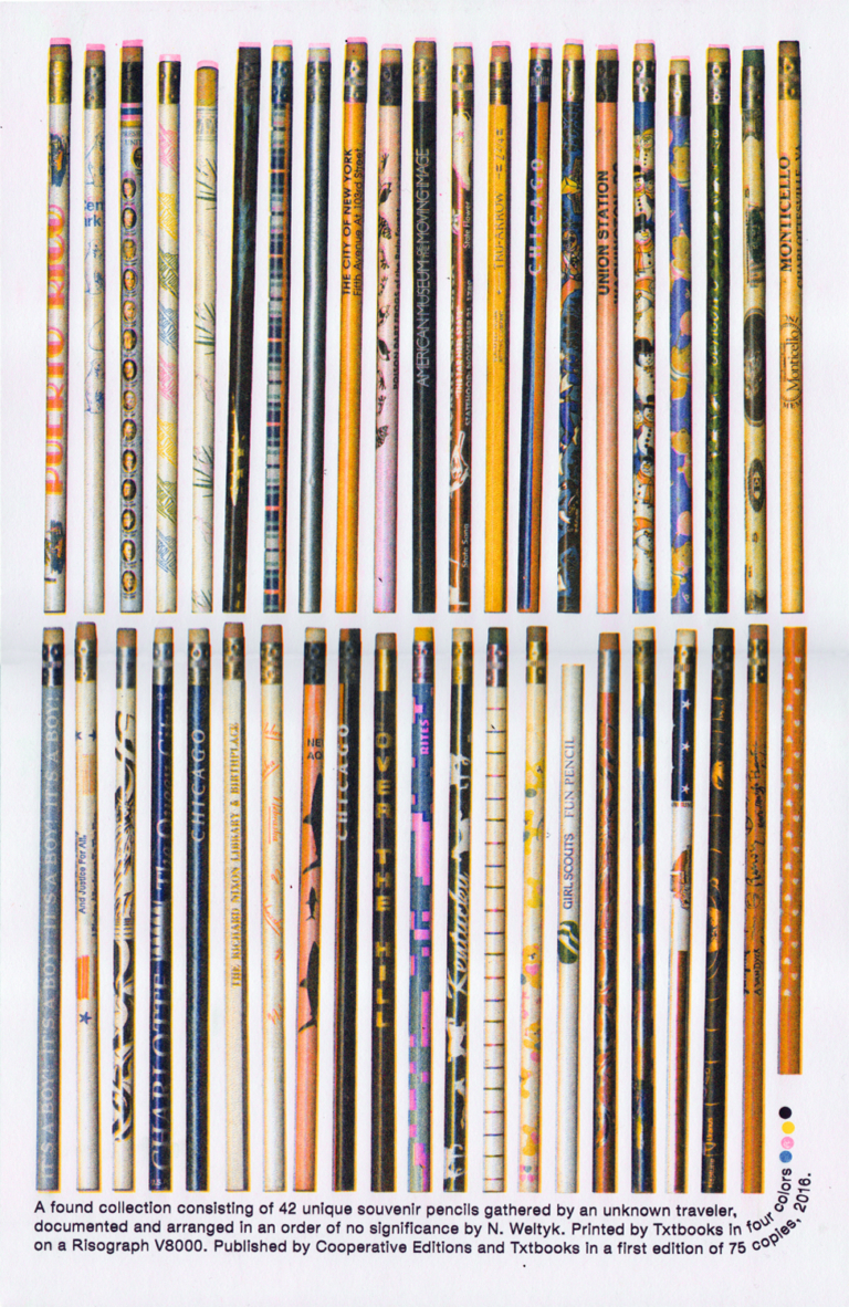TXTbooks Collected Pencils – Nicholas Weltyk